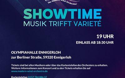 The Modern Wind Orchestra e.V. präsentiert SHOWTIME – Musik trifft Varieté