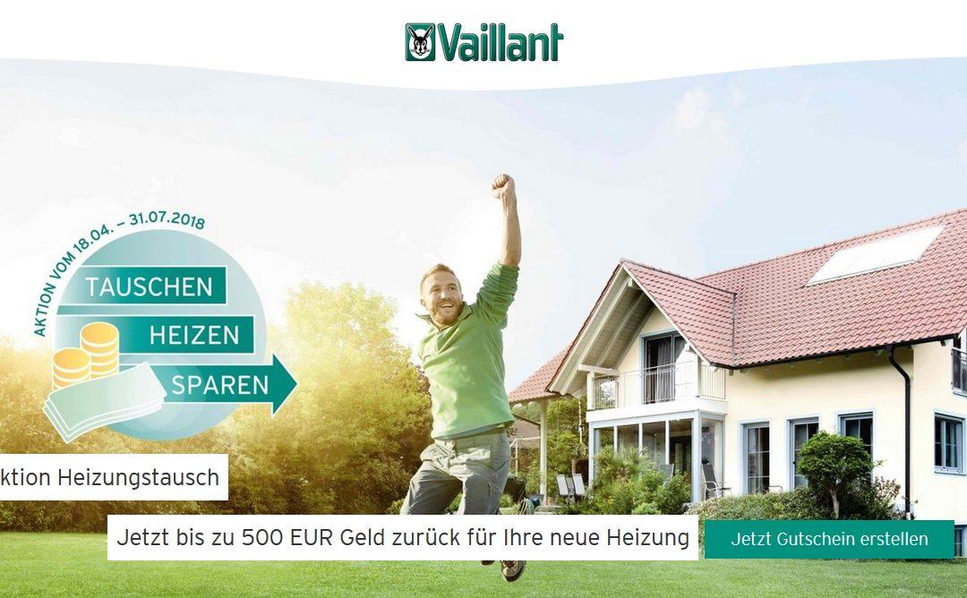 Aktion Heizungstausch: Jetzt bis zu 500 EUR Geld zurück für Ihre neue Heizung
