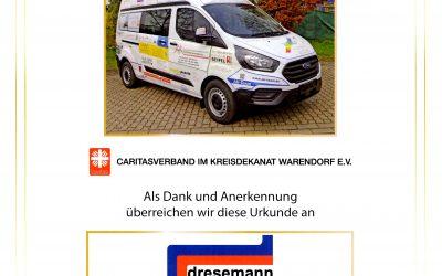 Sponsoring der Caritas